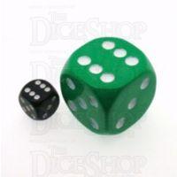 D&G Opaque Green MASSIVE 36mm D6 Spot Dice