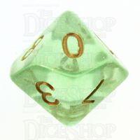 TDSO Iridescent Glitter Green D10 Dice