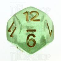 TDSO Iridescent Glitter Green D12 Dice