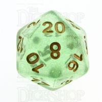 TDSO Iridescent Glitter Green D20 Dice
