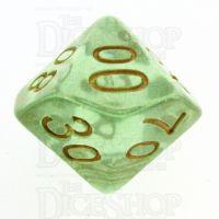 TDSO Iridescent Glitter Green Percentile Dice
