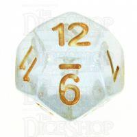 TDSO Iridescent Glitter Blue D12 Dice