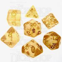 TDSO Iridescent Glitter Orange 7 Dice Polyset