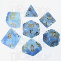 TDSO Glitter Transparent Blue 7 Dice Polyset