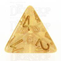 TDSO Iridescent Glitter Orange D4 Dice
