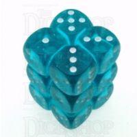 D&G Gem Aqua 12 x D6 Dice Set
