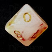 TDSO Opalescence Red & Yellow D10 Dice