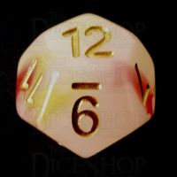 TDSO Opalescence Red & Yellow D12 Dice
