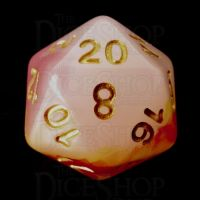 TDSO Opalescence Red & Yellow D20 Dice