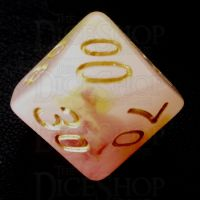 TDSO Opalescence Red & Yellow Percentile Dice