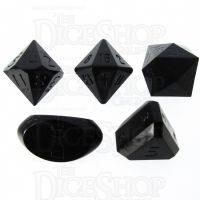 GameScience Opaque Coal Black Zocchi D3 D5 D14 D16 D24 Dice Set