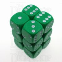 D&G Opaque Green 12 x D6 Dice Set