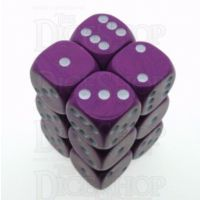 D&G Opaque Purple 12 x D6 Dice Set