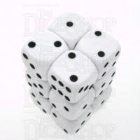 D&G Opaque White 12 x D6 Dice Set