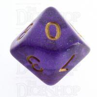 TDSO Iridescent Glitter Purple D10 Dice