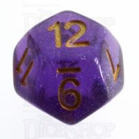TDSO Iridescent Glitter Purple D12 Dice