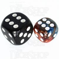 TDSO Duel Red & Teal 12mm D6 Spot Dice