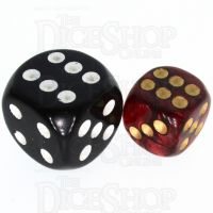 TDSO Duel Blood & Shadow 12mm D6 Spot Dice