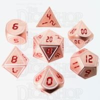 TDSO Metal Tech Copper White & Red 7 Dice Polyset