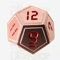 TDSO Metal Tech Copper White & Red D12 Dice