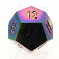 TDSO Metal Iridescent Rainbow D12 Dice