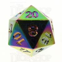 TDSO Metal Iridescent Rainbow D20 Dice