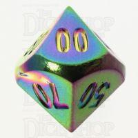 TDSO Metal Iridescent Rainbow Percentile Dice