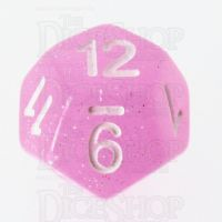 TDSO Translucent Glitter Baby Pink D12 Dice