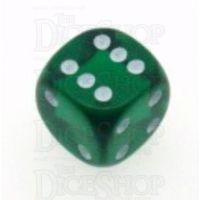 D&G Gem Green 15mm D6 Spot Dice