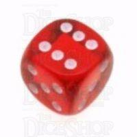 D&G Gem Red 15mm D6 Spot Dice