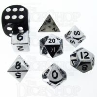 TDSO Metal Polished Silver MINI 10mm 7 Dice Polyset