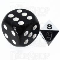 TDSO Metal Polished Silver MINI 10mm D8 Dice