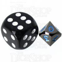TDSO Metal Black Nickel & Blue MINI 10mm D10 Dice