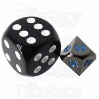 TDSO Metal Black Nickel & Blue MINI 10mm Percentile Dice