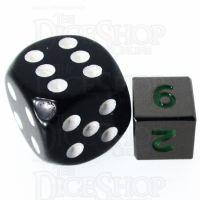 TDSO Metal Black Nickel & Green MINI 10mm D6 Dice