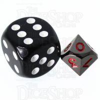 TDSO Metal Black Nickel & Red MINI 10mm D10 Dice