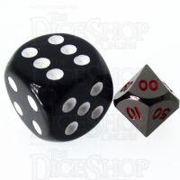 TDSO Metal Black Nickel & Red MINI 10mm Percentile Dice