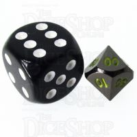 TDSO Metal Black Nickel & Yellow MINI 10mm Percentile Dice