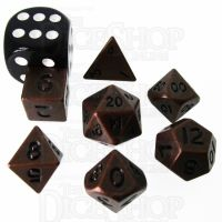 TDSO Metal Antique Copper MINI 10mm 7 Dice Polyset