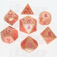 TDSO Metal Tech Copper Yellow & Red 7 Dice Polyset