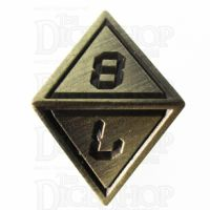 TDSO Metal Tech Gold & Black D8  Dice