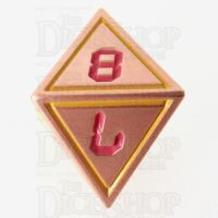 TDSO Metal Tech Copper Yellow & Red D8 Dice
