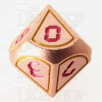 TDSO Metal Tech Copper Yellow & Red D10 Dice