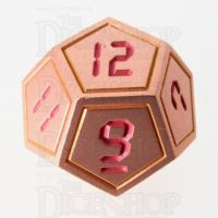 TDSO Metal Tech Copper Yellow & Red D12 Dice