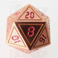 TDSO Metal Tech Copper Yellow & Red D20 Dice