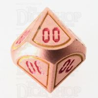 TDSO Metal Tech Copper Yellow & Red Percentile Dice