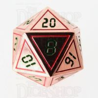 TDSO Metal Tech Copper Red & Green D20 Dice