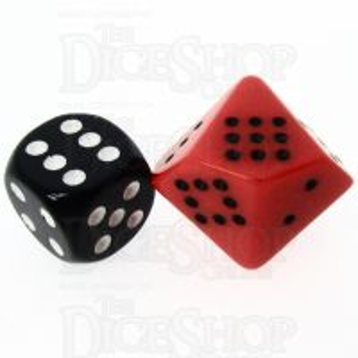 Chessex Opaque Orange & Black 20mm D10 Spot Dice