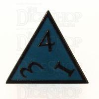 TDSO Metal Script Black Nickel & Blue D4 Dice