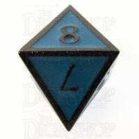 TDSO Metal Script Black Nickel & Blue D8 Dice